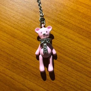 Pink Teddy Bear Necklace